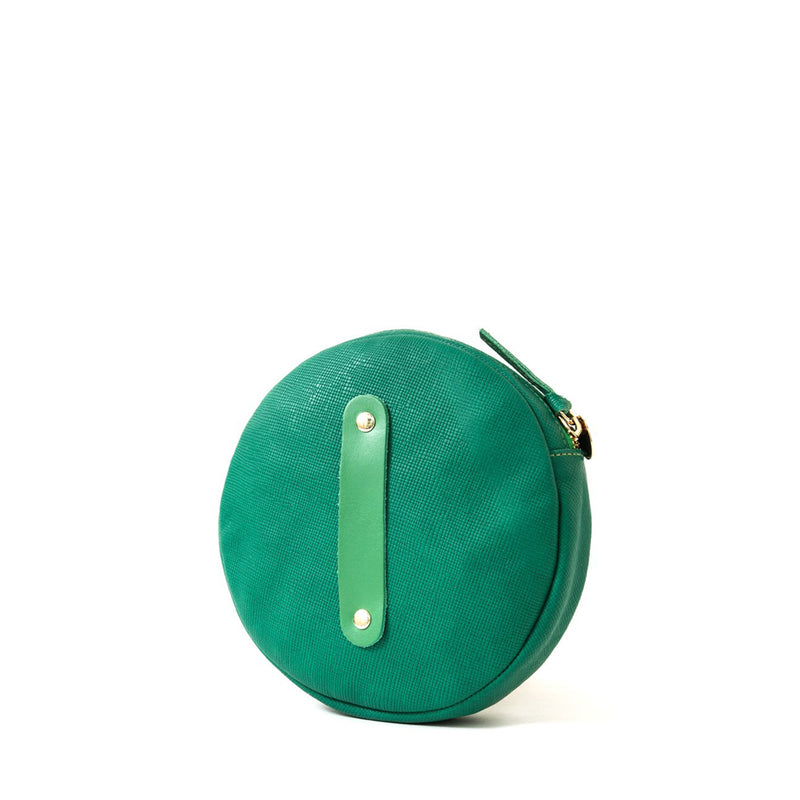 Circle Wallet Clutch with Webbing Wristlet