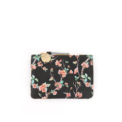 Black Cherry Blossom Coin Clutch