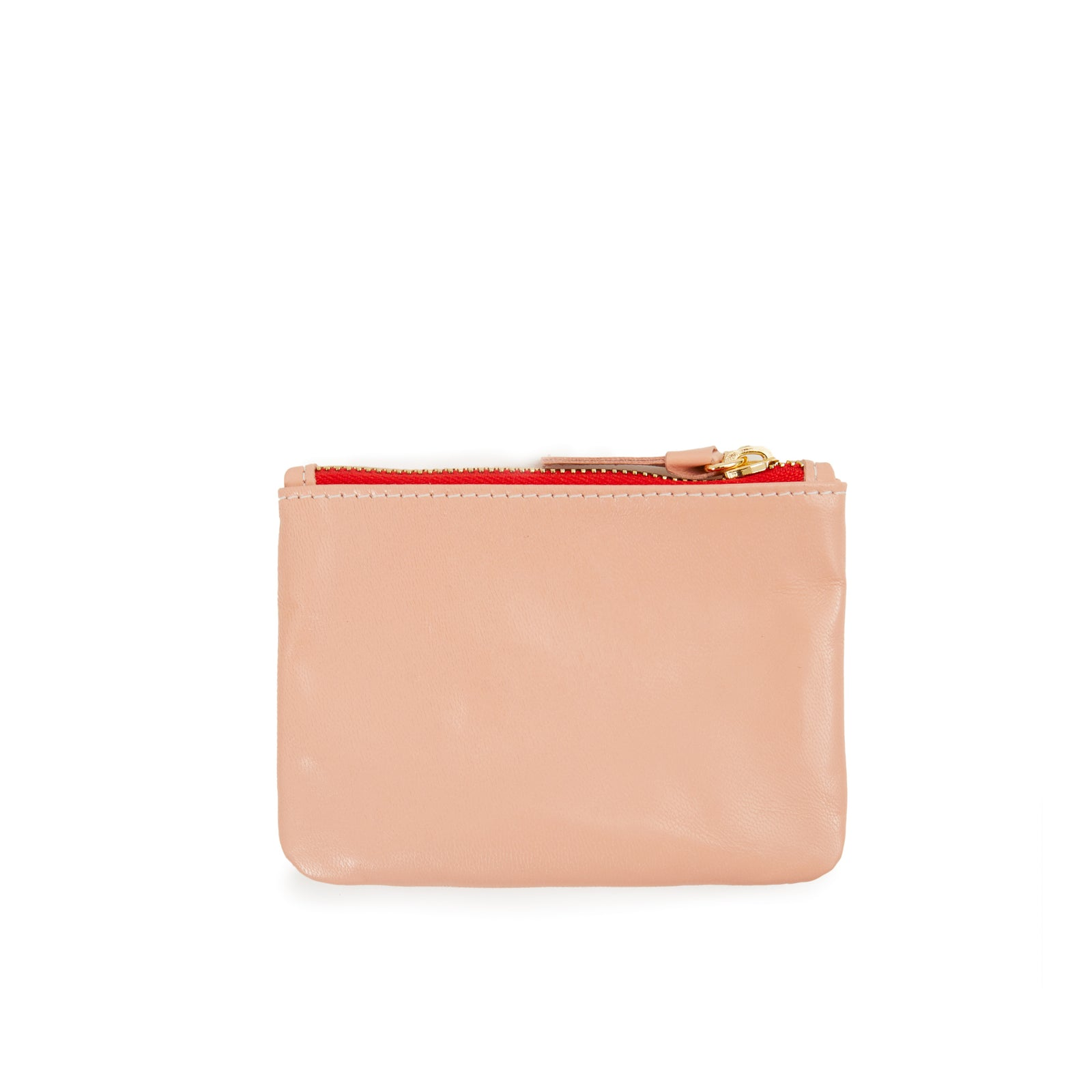 Coral Kid with Lips Coin Clutch  - Back