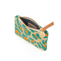 Neon Cat Suede Coin Clutch - Interior