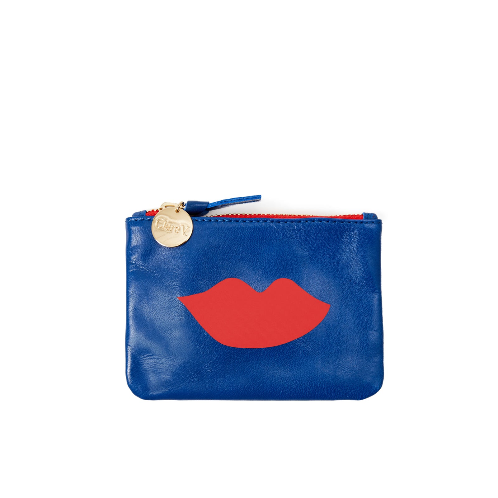 Nova and Perruche with Lips Coin Clutch - Front