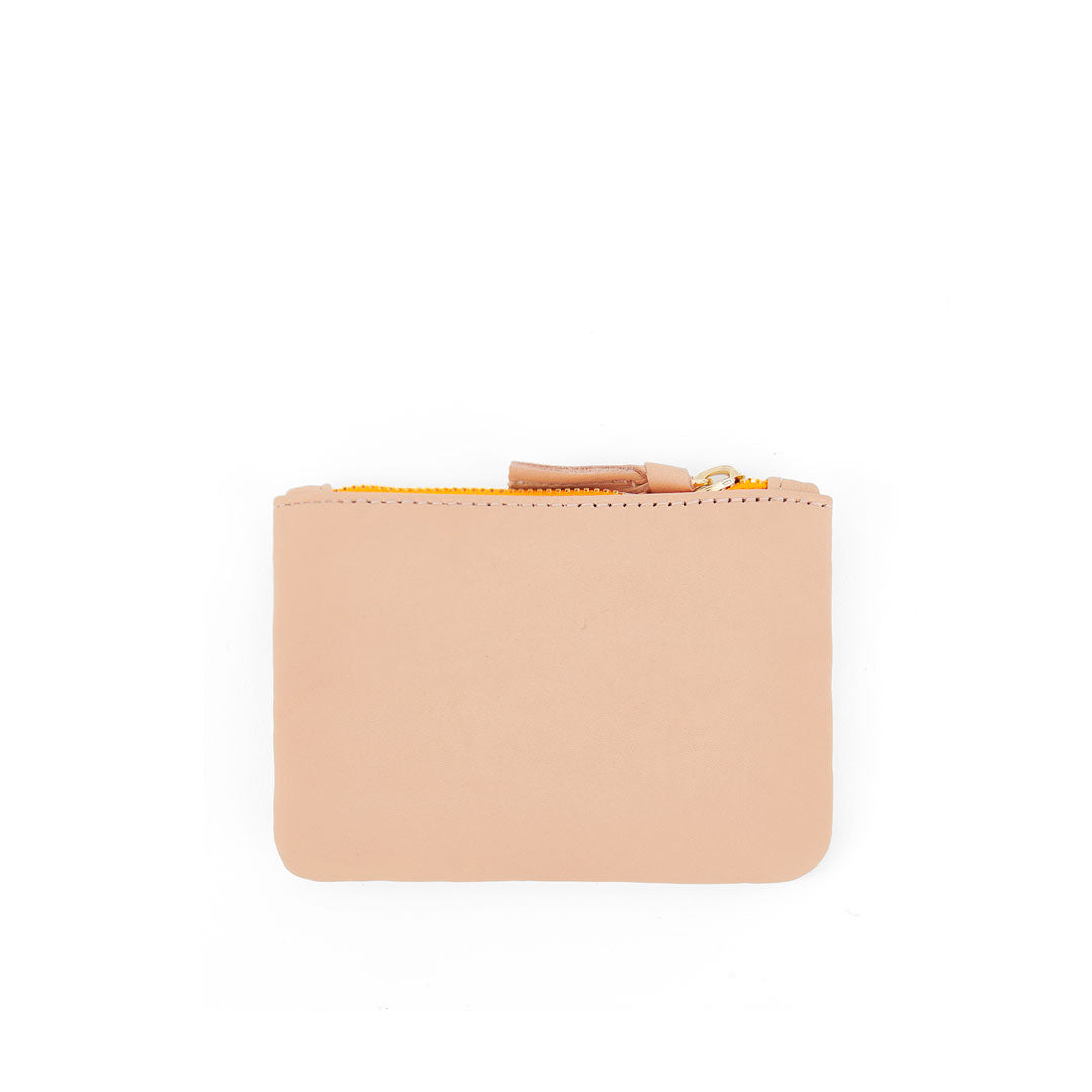 Pale Pink Italian Nappa Coin Clutch - Back