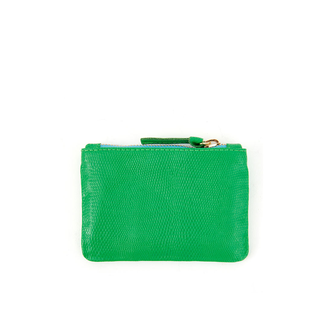 Parrot Green Lizard Coin Clutch - Back