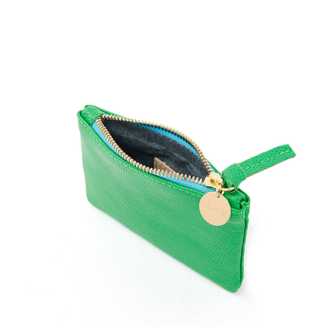 Parrot Green Lizard Coin Clutch - Interior