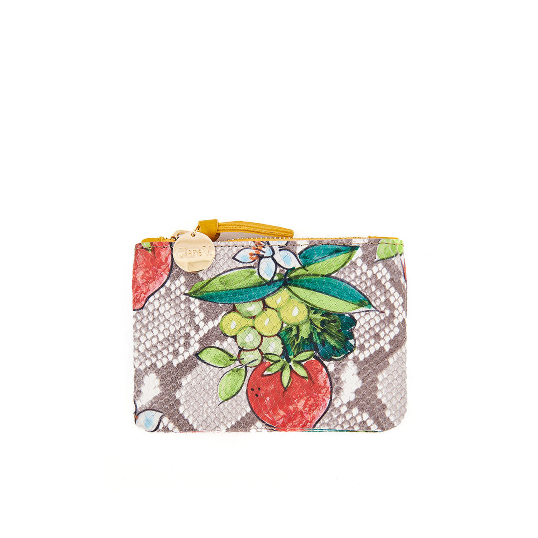 Strawberry Snake Coin Clutch