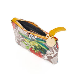 Strawberry Snake Coin Clutch - Interior