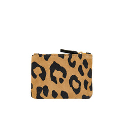 Tan Pablo Cat Suede Coin Clutch - Back