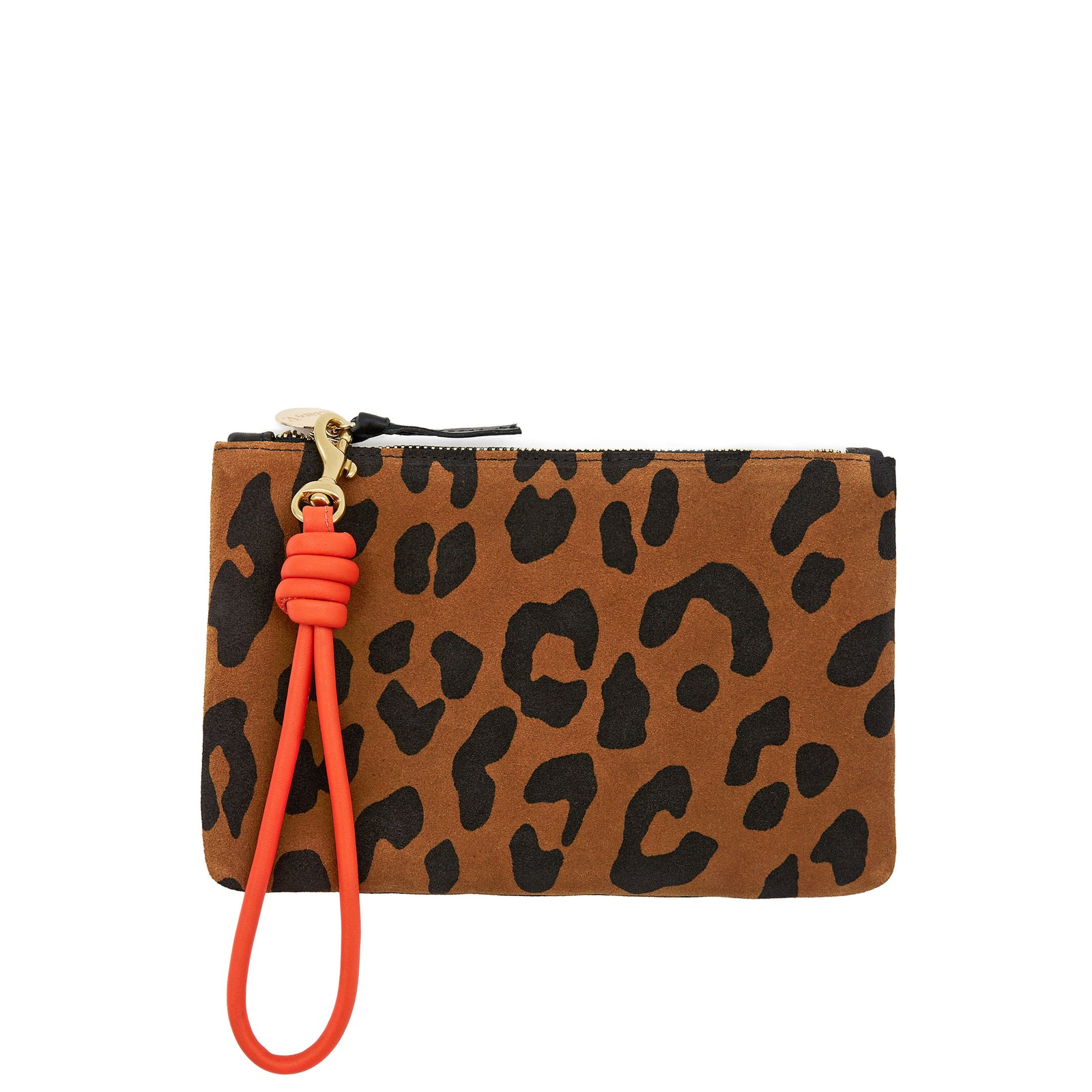 Blood Orange Cord Wristlet with Wallet Clutch