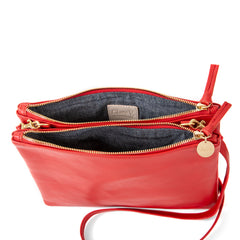 Cherry Red Double Sac Bretelle - Interior