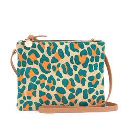 Double Sac Bretelle in Neon Cat Suede - Front