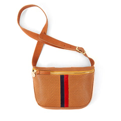 Cuoio Perf w/Stripes Fannypack - Front