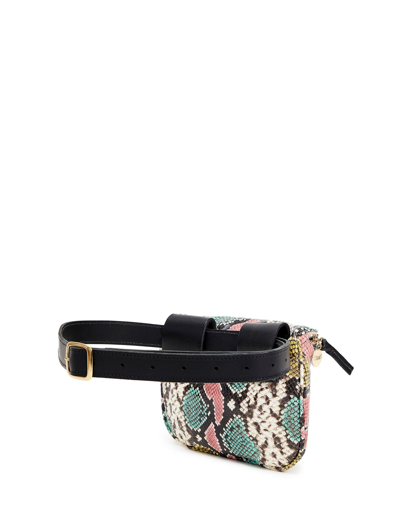 Pastel Painted Snake Fanny Pack - Back
