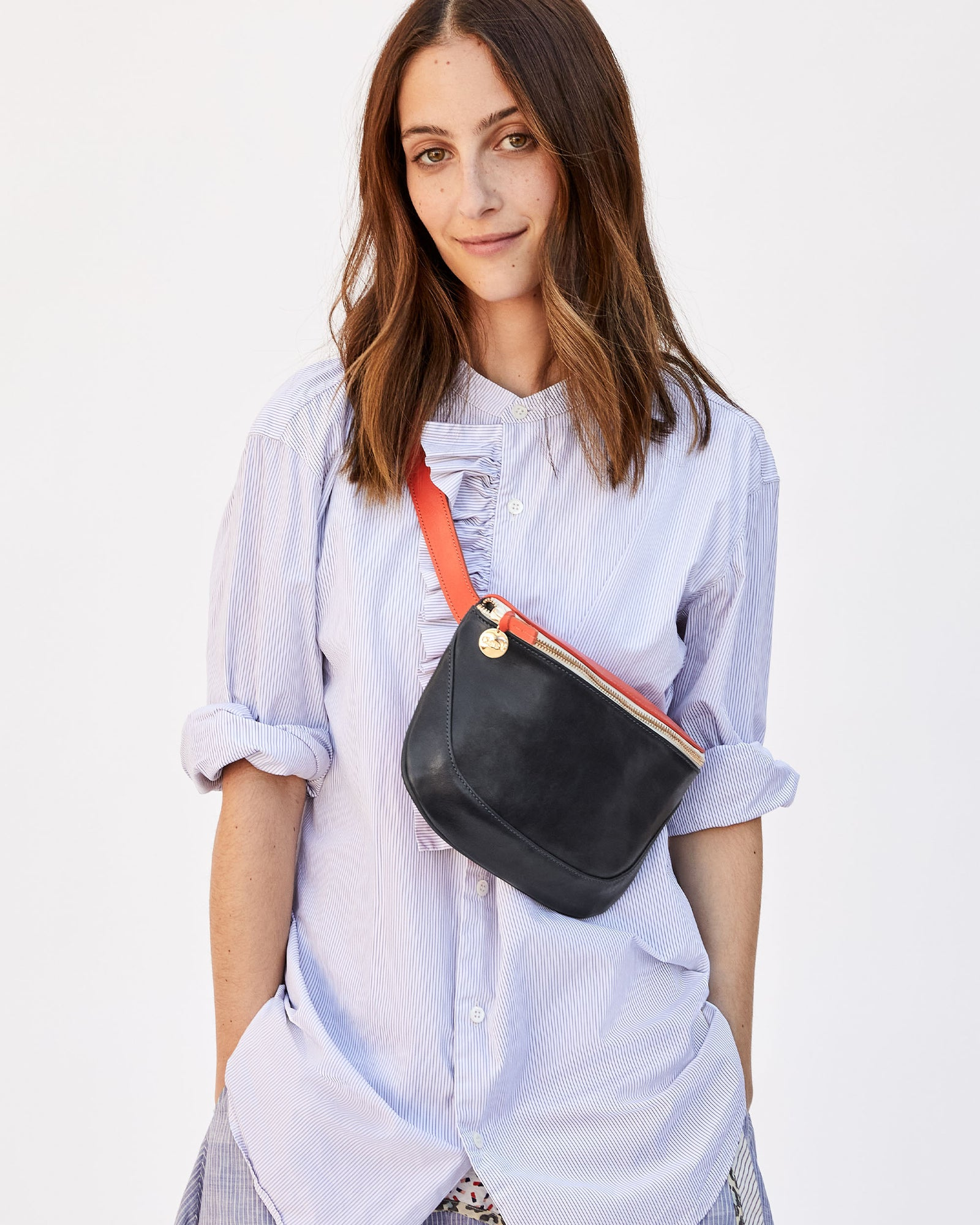 Navy & Blood Orange Fanny Pack  on Frannie