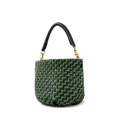 Black and Green Woven Zig Zag Fifi - Back