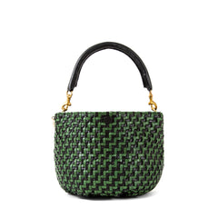 Black and Green Woven Zig Zag Fifi - Front