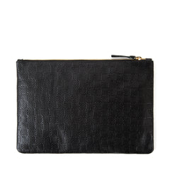 Black Honolulu Flat Clutch - Back