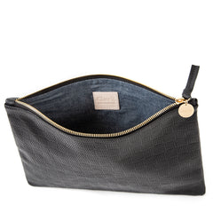 Black Honolulu Flat Clutch - Interior