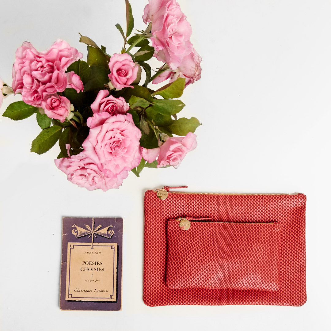 Poppy Reptile Wallet and Flat Clutch