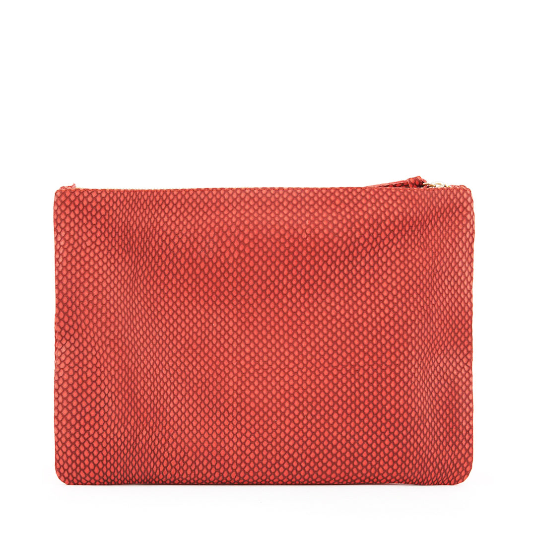 Poppy Reptile Flat Clutch - Back
