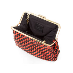 Black and Red Woven Zig Zag Flore - Interior