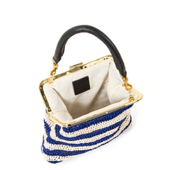 Blue & Cream Raffia Flore - Interior