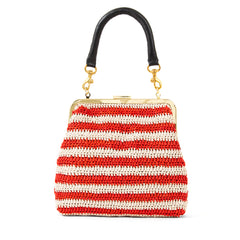 Red & Cream Raffia Flore - Front