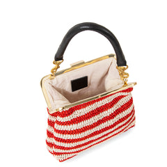 Red & Cream Raffia Flore - Interior