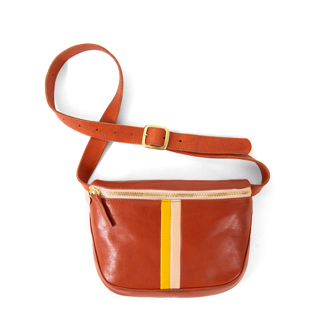 Sienna Rustic with Stripes Fannypack - Front