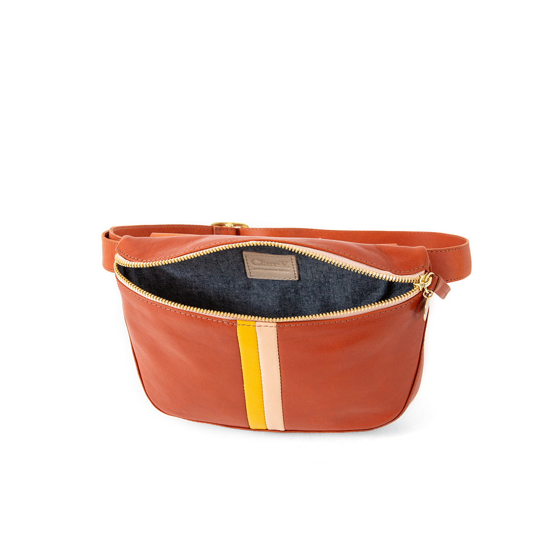 Sienna Rustic with Stripes Fannypack - Interior