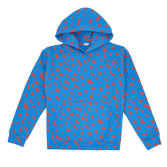 Blue with Poppy Jaguar Hoodie - Front