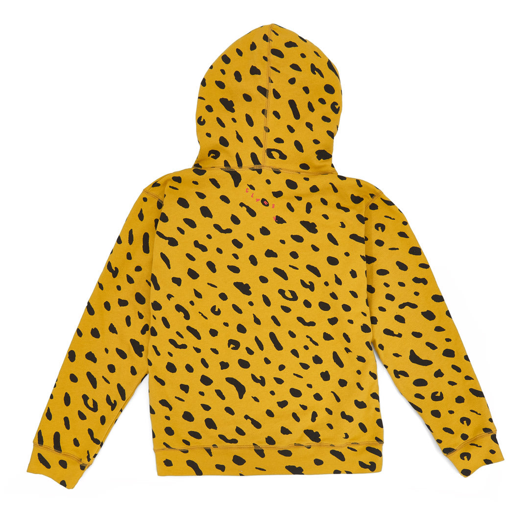 Marigold with Black Jaguar Hoodie - Back