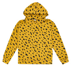 Marigold with Black Jaguar Hoodie - Front