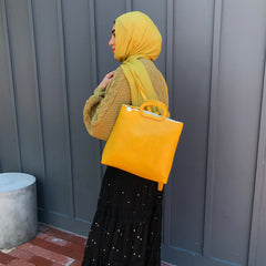 Yellow Marcelle Backpack On-Model