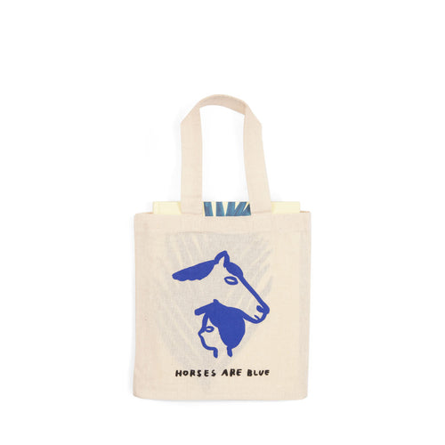 "Iris de Moüy ""Horses Are Blue"" Book with Tiny Tote"