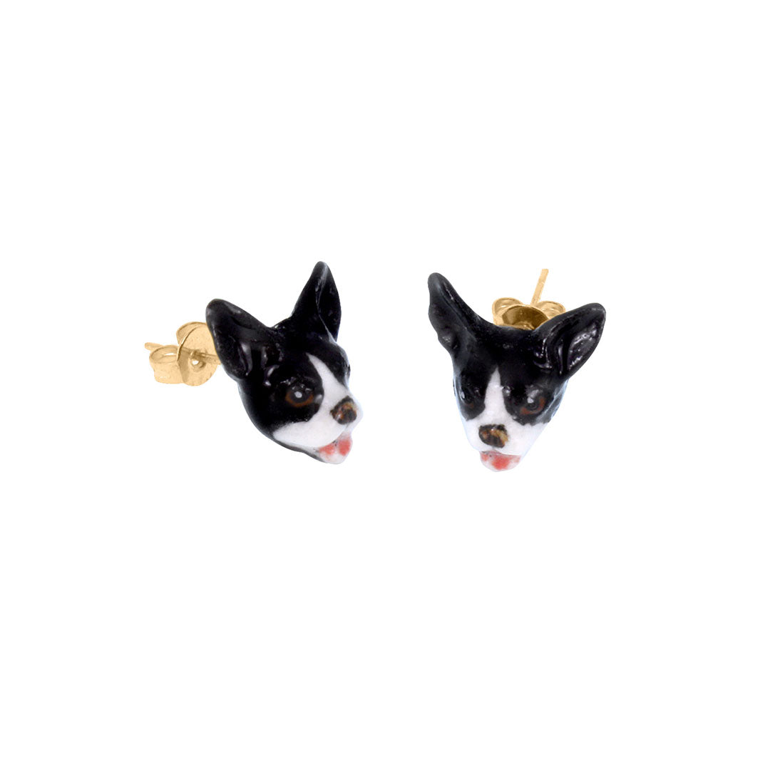 Bulldog Earrings