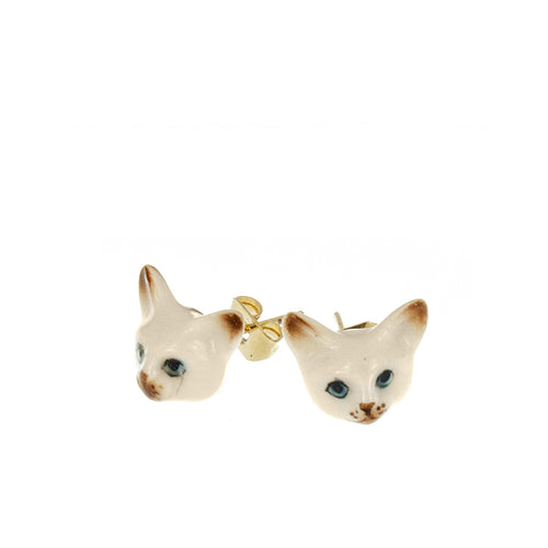 Nach Bijoux Cat Stud Earrings