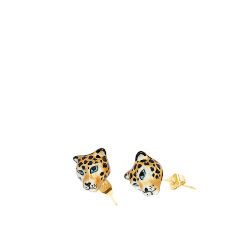 Nach Bijoux Mini Leopard Head Earrings