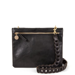 Black Jumelle with Black Link Crossbody Strap