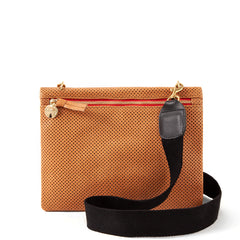 Cuoio Perf Jumelle with Black Webbing Crossbody Strap (sold separately)
