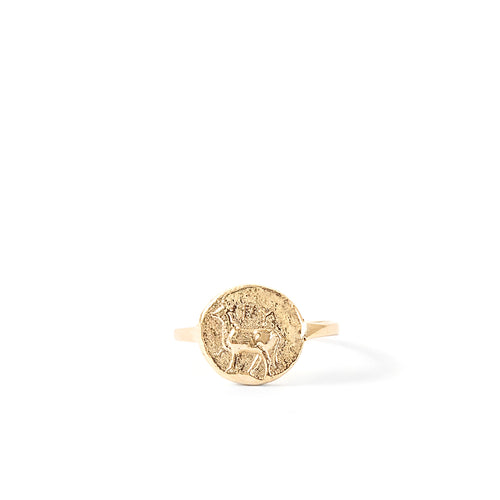 Kathryn Bentley Stag Coin Ring