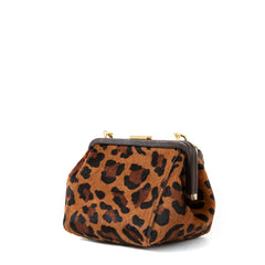 Cognac Pablo Cat Hair-On Le Box Bag - Back
