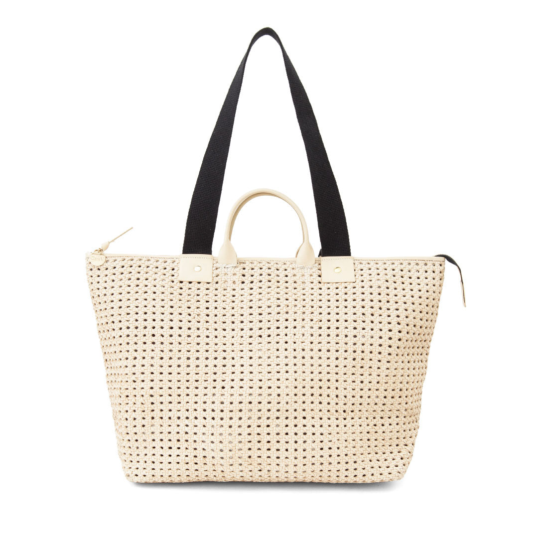 Cream Rattan Le Zip Sac