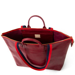 Oxblood Le Zip Sac - Interior