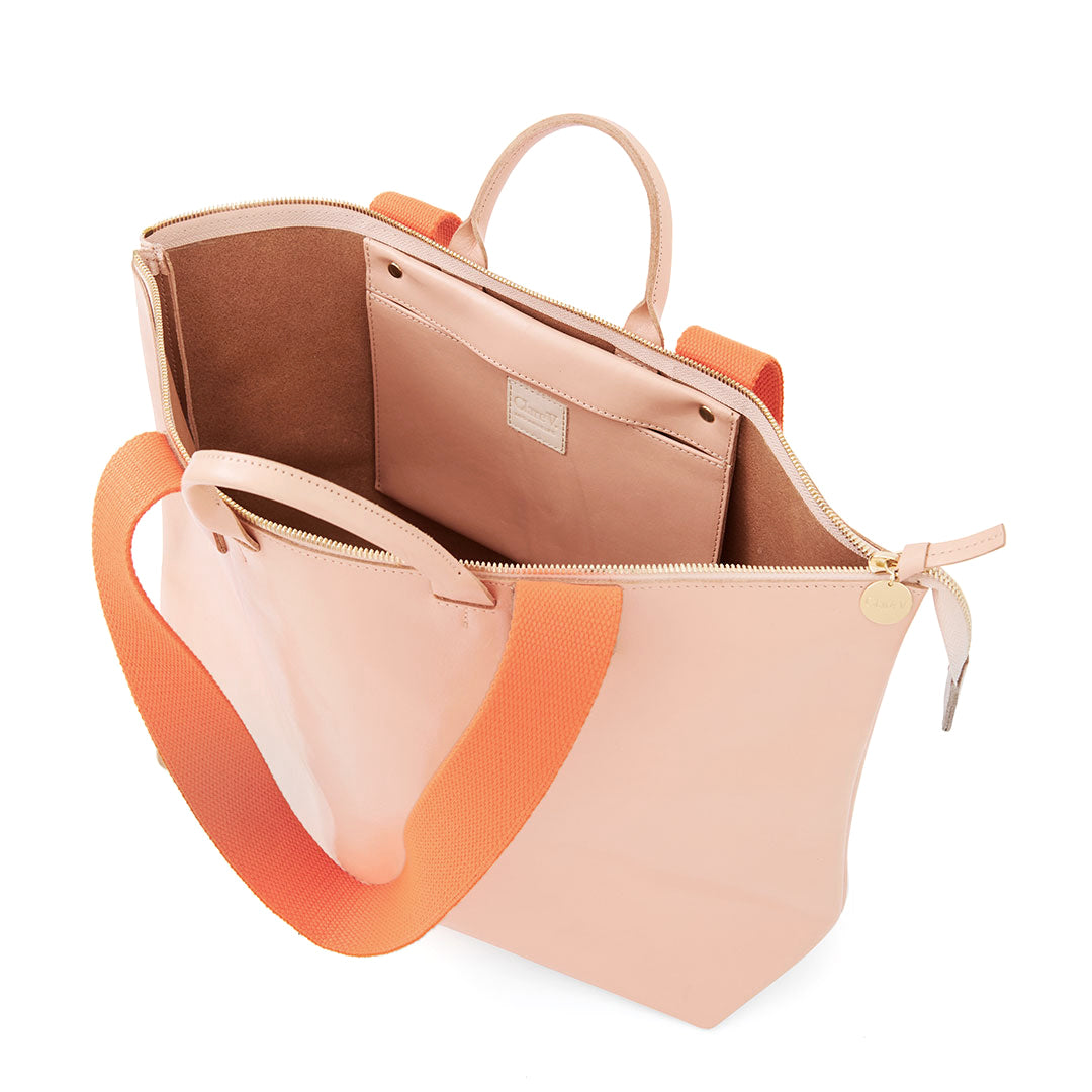 Pale Pink Le Zip Sac - Interior