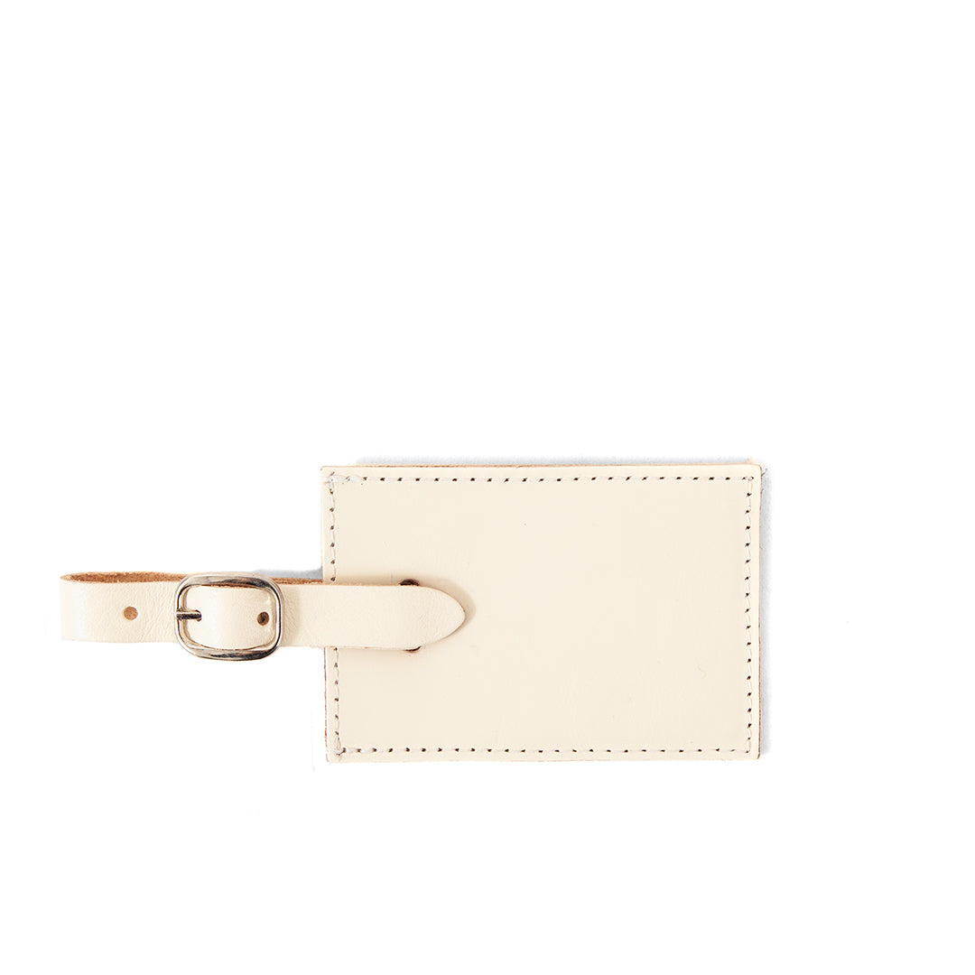 White Luggage Tag - Front