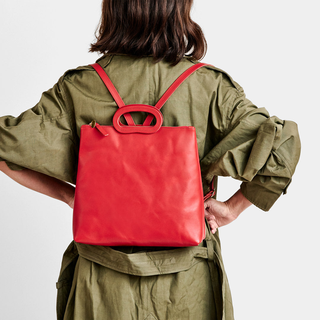 Cherry Red Marcelle Backpack