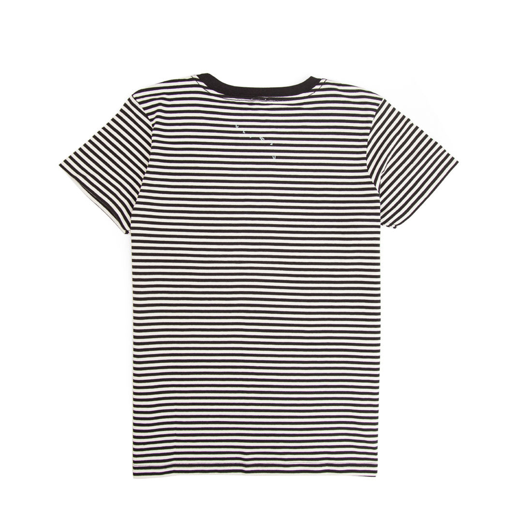 Black & Cream Stripe Marine Tee - Back