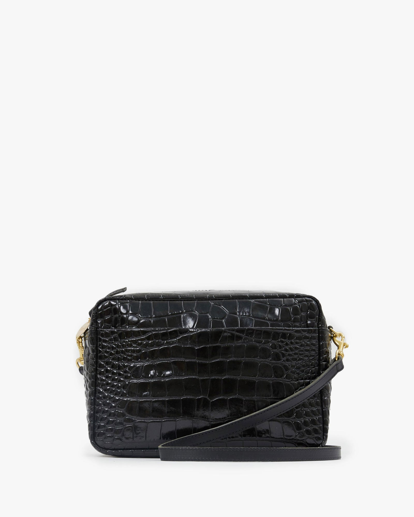 Black Croco Marisol with Front Pocket