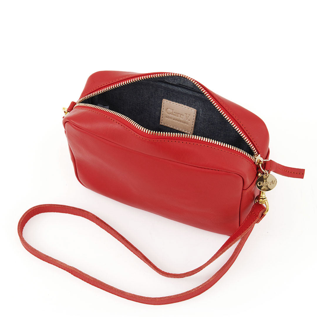 Cherry Red Midi Sac - Interior