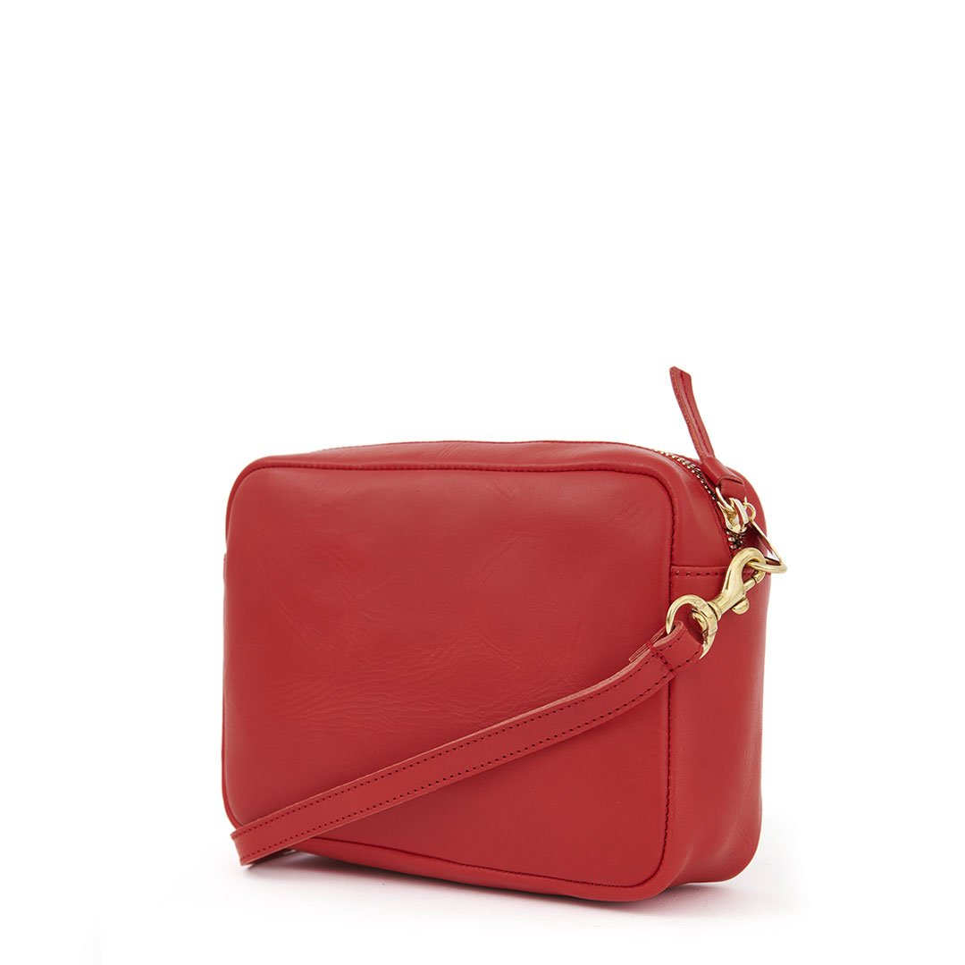Cherry Red Midi Sac - Back